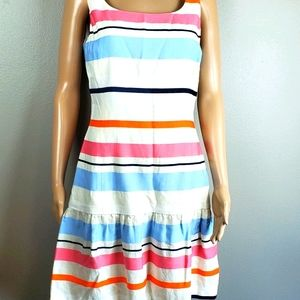 J. McLaughlin White Striped Dress